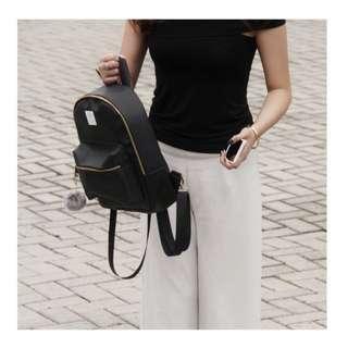 Dark Black Backpack