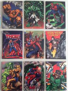 Full Set 1994 Flair Marvel Annual (150 Cards) with free 9-pocket pages