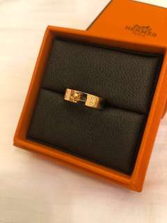 Hermes Rose Gold Kelly Ring
