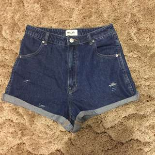 ROLLA'S distressed high waisted shorts