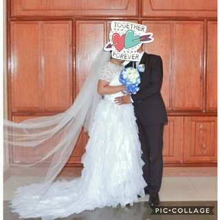 Wedding gown for rent/sale
