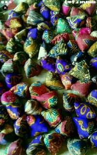Batik five stones Assorted mixed pack  Five Stones Kampong Games  nyonya peranakan batik inspired designs  Stitched from authentic batik