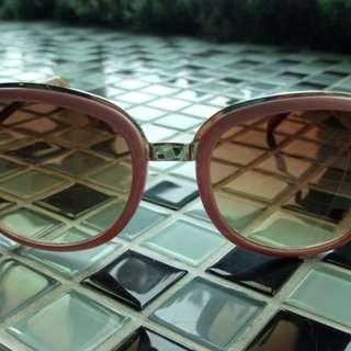 🚚 Steve Madden粉紅金框太陽眼鏡