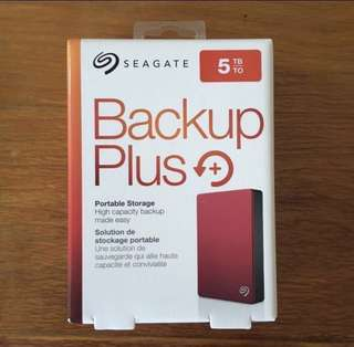 5TB Seagate Backup Plus Portable HDD
