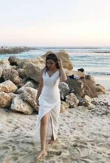 dress putih pantai (LBS)