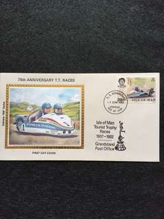 Isle of Man 1982 TT Races FDC stamp