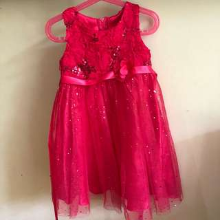 Girl's Pink Party Dress