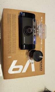 Iroad V9 dash camera front and rear