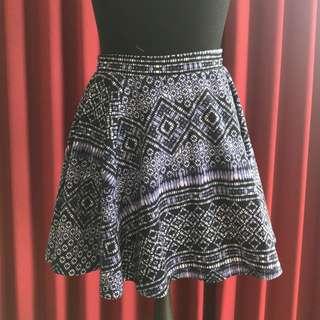 Cotton On Indigo Printed Skater Skirt