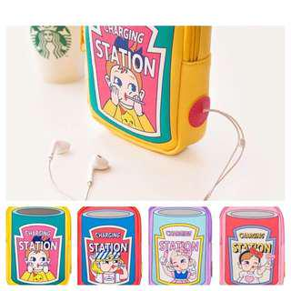 (SALE) Cute Cartoon Storage Pouch/ Charging Accessories Bag/ Travel Pouch by Bentoy