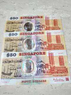 Old Singapore $50 notes