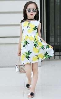 Korean Mango Sleeveless Dress