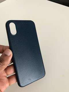 iPhone X TPU leather soft case