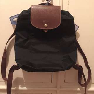 Authentic Black longchamp backpack