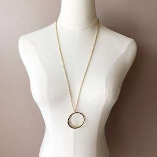 Anna & Ara New Moon Long Pendant Necklace