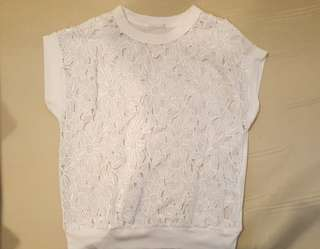Uniqlo GU white lace blouse