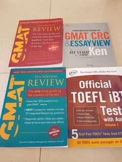 GMAT and TOEFL Texbooks