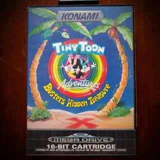 Tiny Toon Adventures - Buster's Hidden Treasure - Sega Mega Drive Genesis 16-Bit Platformer