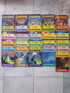 Novel horor goosebumps karya R.L.Stine dijual satuan or set