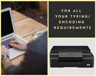 Typing/Encoding services