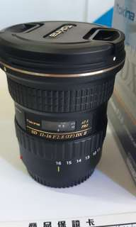 TOKINA 11-16MM f2.8 atx pro dx II for cannon