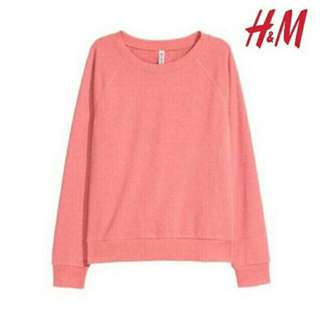 Sweatshirt H&M pink salmon