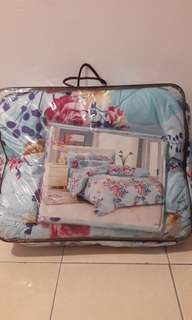 Blue Bedsheets New Design Ready Stock (A418)