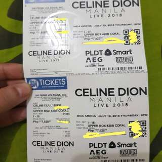 FIXED PRICE legit Celine Dion Ticket For Sale