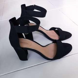 Bershka Black Sandal Heels