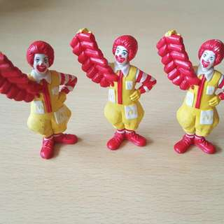 Vintage Ronald Mcdonald CNY  3 For Good Luck