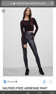 Aritzia Wilfred Free Adrienne faux leather pant