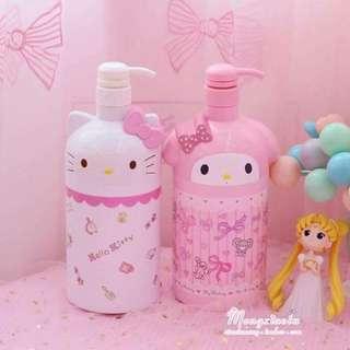Hello Kitty My Melody Shampoo Lotion Dispenser Bottle
