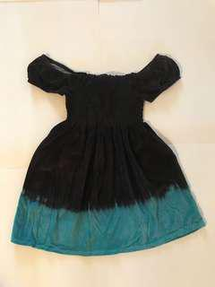 Sexy off shoulder brown/blue dress size S/M