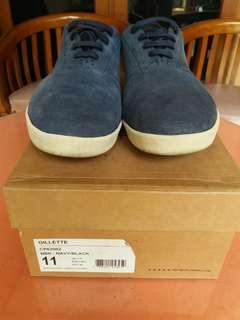 HUF Gillete Skate Sneaker Suede Blue Navy