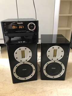 Philips DVD system upgraded to 50W TEAC speakers