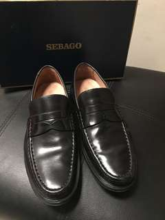 Black Leather Penny Loafers by Sebago