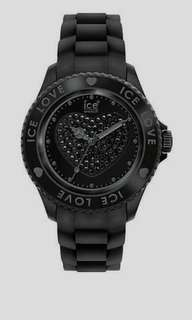 Ice-watch Ice-love Sili Collection Silicone Black Unisex Watch