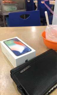 Iphone x 64gb myset silver new