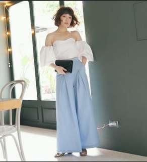 Korea High Waist Wide Leg Jeans