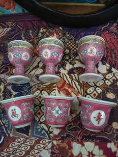 Wan shou wu jiang cups.