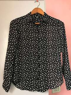 Uniqlo Polka Dot Blouse