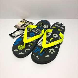 🚚 Kid's 小朋友 Rider 巴西尺寸32/33(巴西足球男孩 兒童人字夾腳拖鞋-黃色)