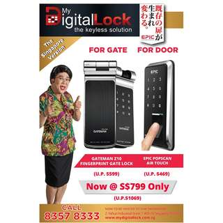 Gate Z10 gate + Epic Popscan door digital lock
