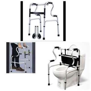 Simply Sale-Premium Walking Frame & Toilet Support + wheels