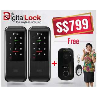 Epic Triplex 2way Card Digital Lock for Main Door and Gate and o-bell at $799  (call 96177025)