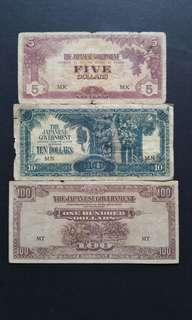 1942 Malaya Japanese Occupation Currency Banknote