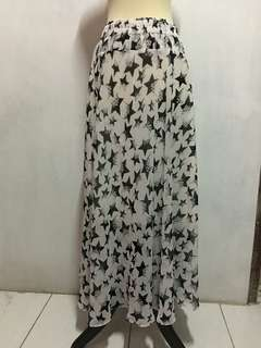 #maudecay Rok panjang sifon motif chiffon long skirt