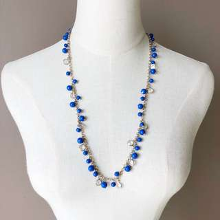 Banana Republic Electric Blue Beads Necklace