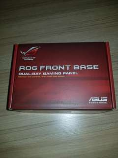 asus rog dual bay gaming panel