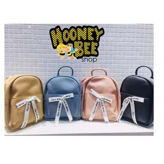 Japan Quality Miniso - Backpack Ransel Pita Besar Ribbon Bow Import